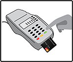 Using a chip card: Step Two